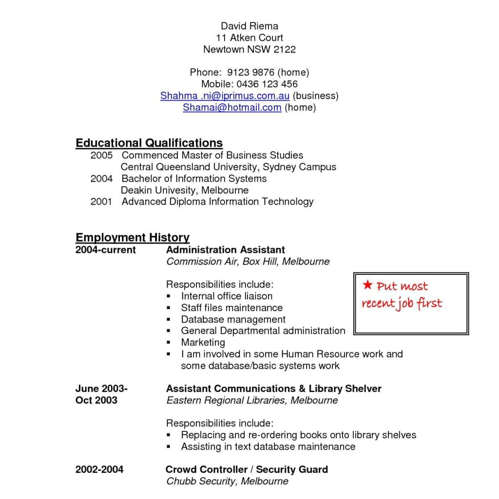 Canadian Style Resume and Cover Letter Resume format Canada Security Officer Cover Letter Sample