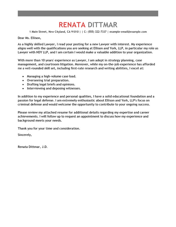 cover letter for candidate attorneys