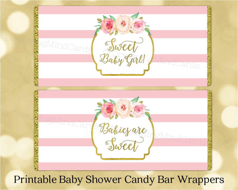 Candy Bar Wrappers Template for Baby Shower Printable Free Free Printable Candy Wrapper Templates for Baby Girl