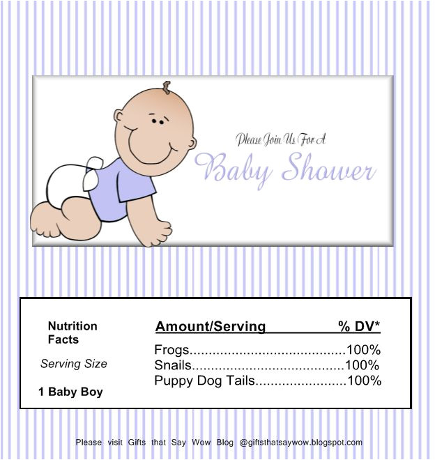 Candy Bar Wrappers Template for Baby Shower Printable Free Gifts that Say Wow Free Printable Baby Boy Candy Wrapper