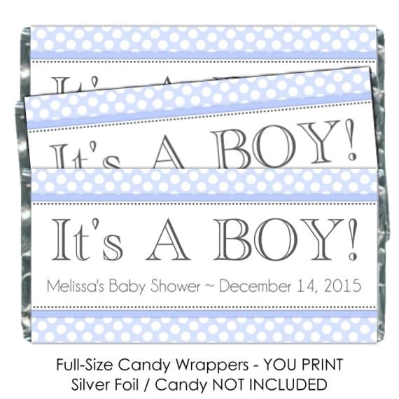 printable candy wrappers baby shower