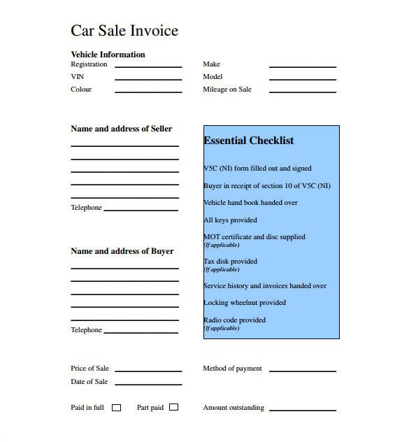Car Buying Receipt Template 13 Car Sale Receipt Templates Doc Pdf Free Premium