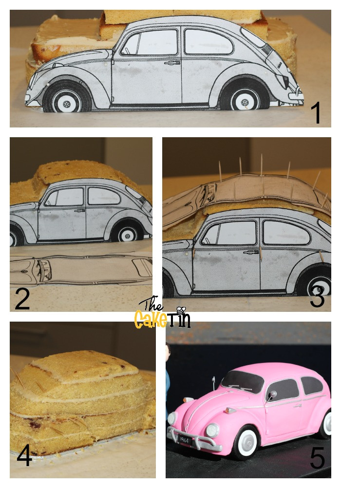 carving car cake easy way