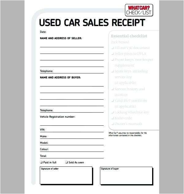 car receipt