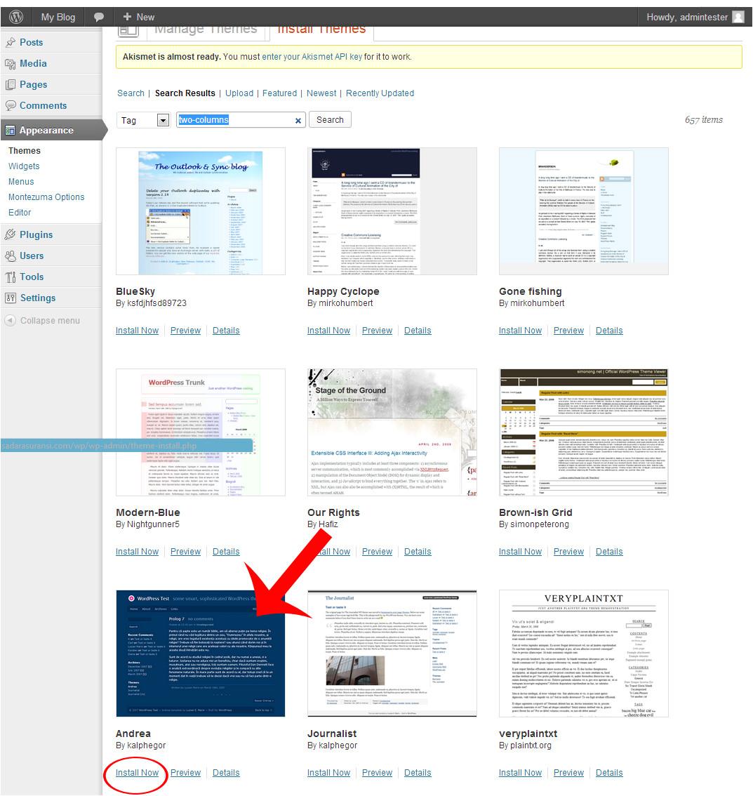 Cara Install Template WordPress Belajar Membuat Website Untuk Pemula Step 1a Install