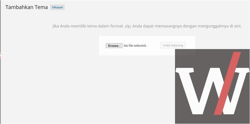 cara install template