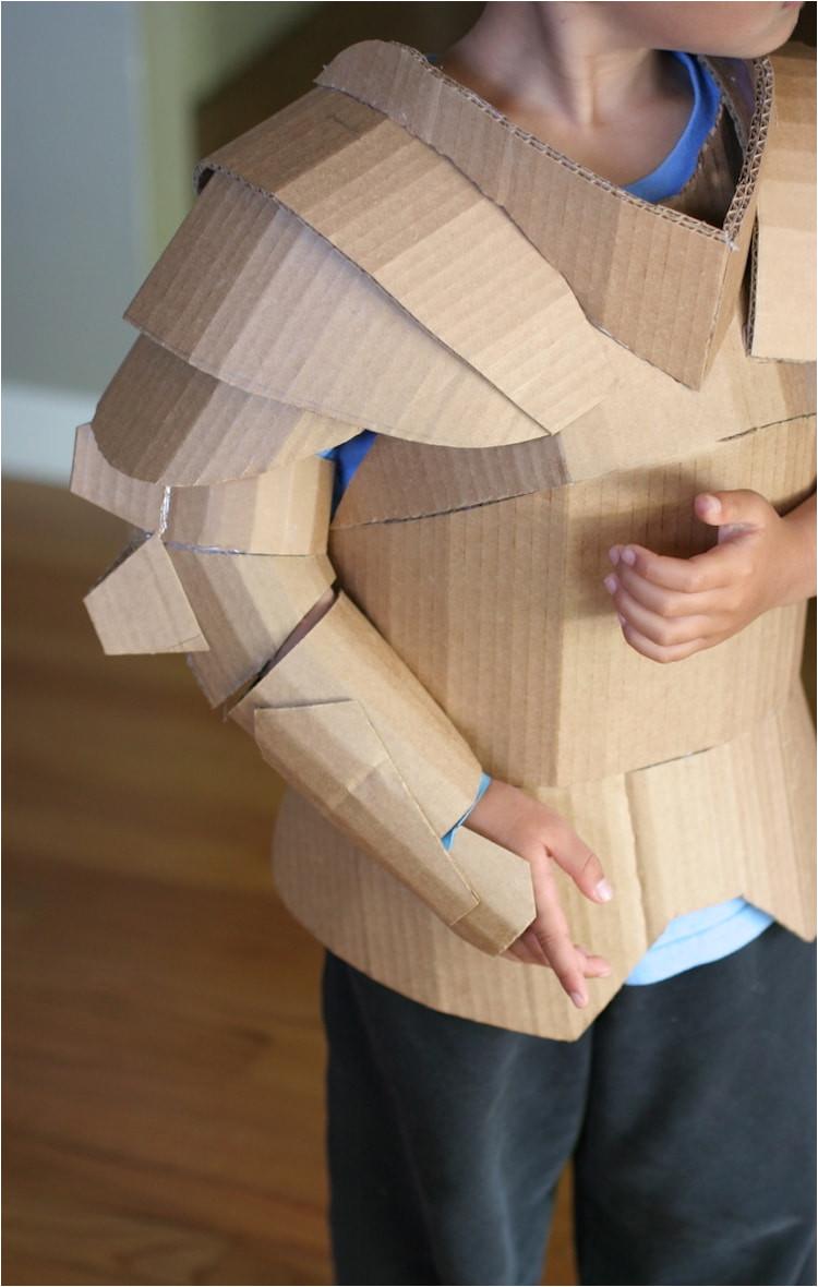 knight cardboard costume diy