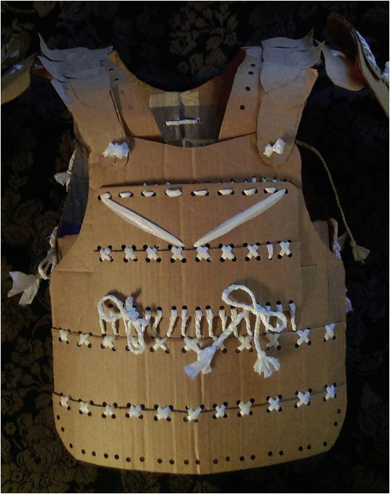 Cardboard Armour Template Pin by Anthony Nuon On Cardboard Samurai Armor Home Made