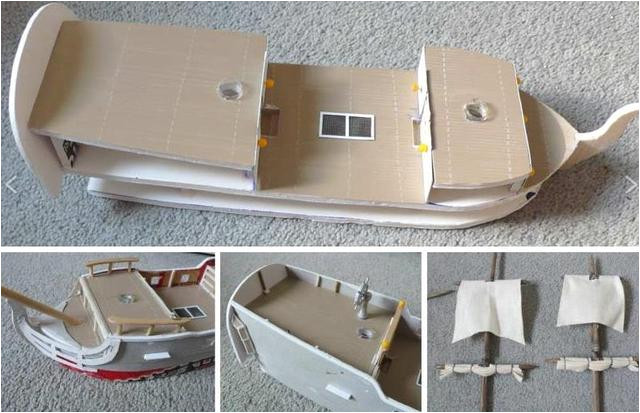 Cardboard Pirate Ship Template Papermau How to Build A Pirate Ship In 28mm Scale
