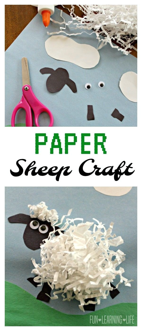 Cardboard Sheep Template Paper Sheep Craft Inspired by Shaun the Sheep Animal