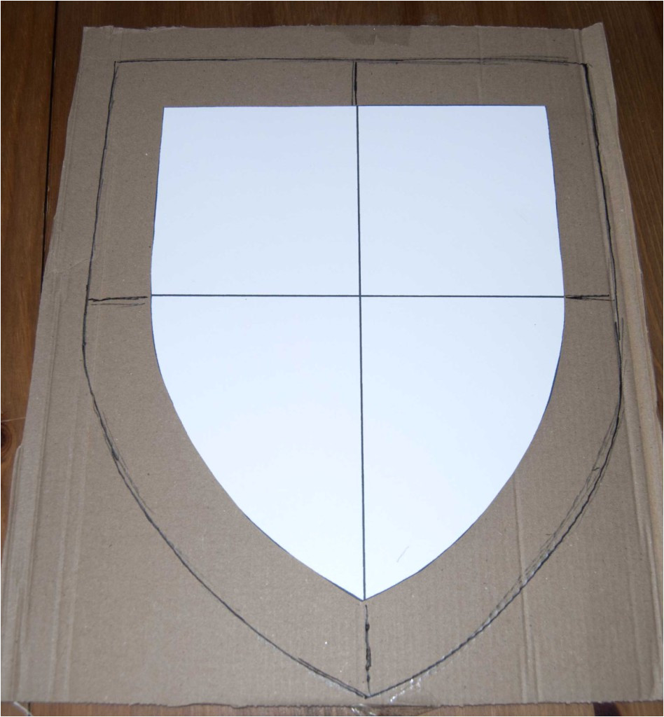 Cardboard Shield Template How to Make A Coat Of Arms Hobbycraft Blog