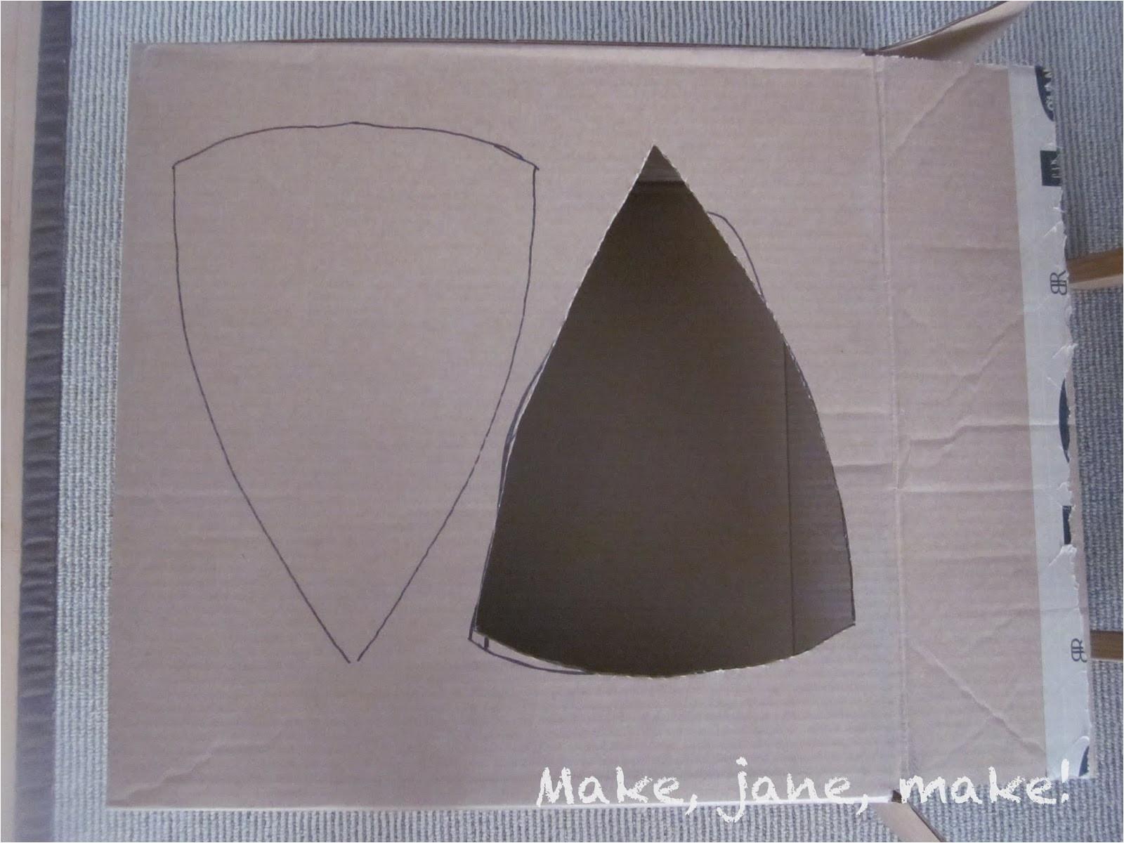 Cardboard Shield Template Make Jane Make Diy Hallowe 39 En Felt and Cardboard