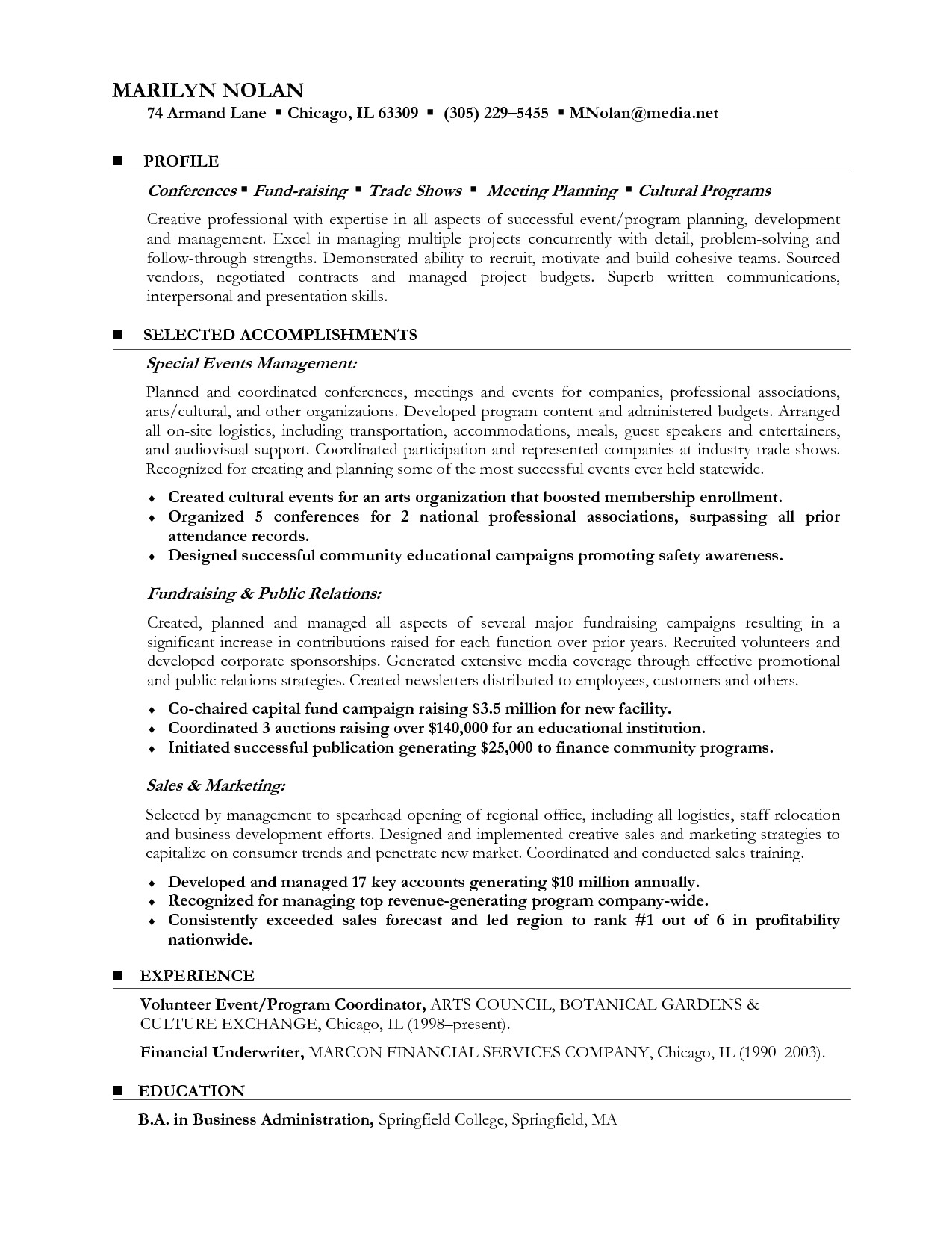 career change resume format