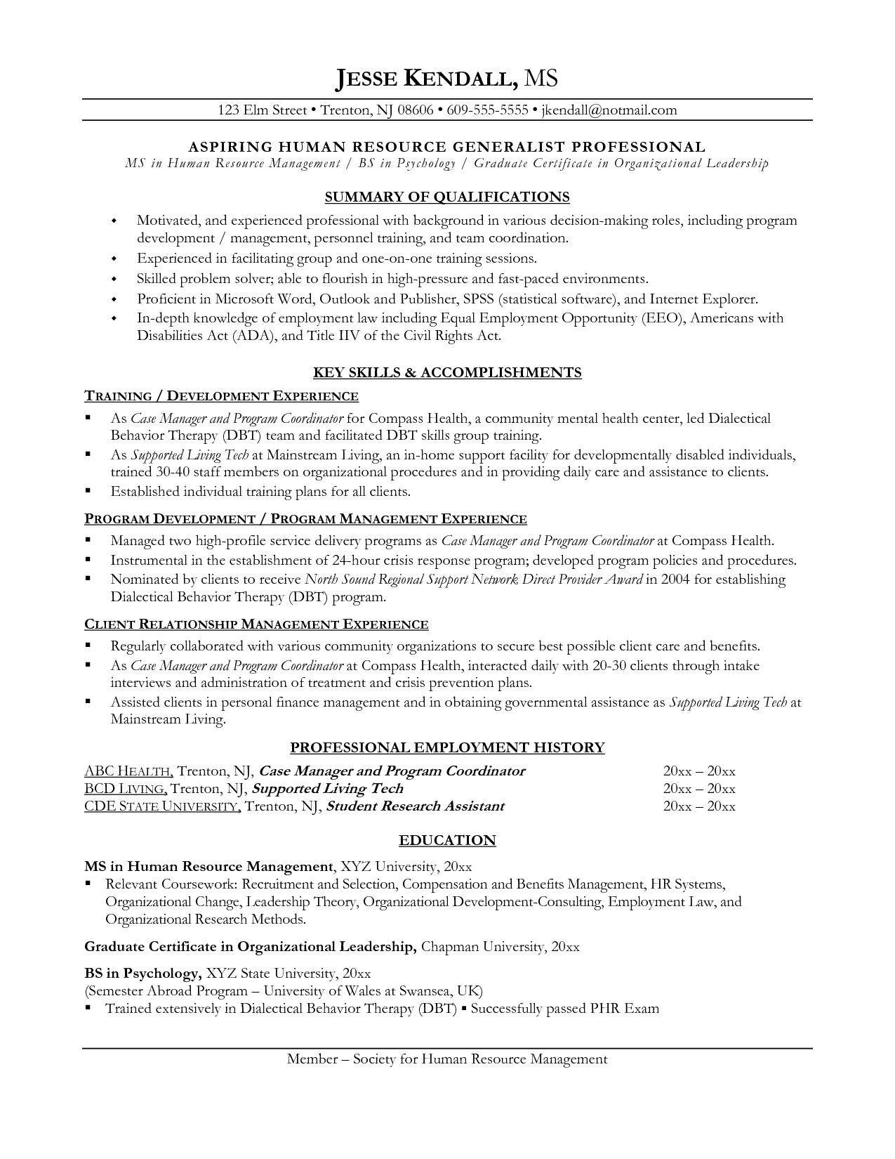 resume examples career change 2017