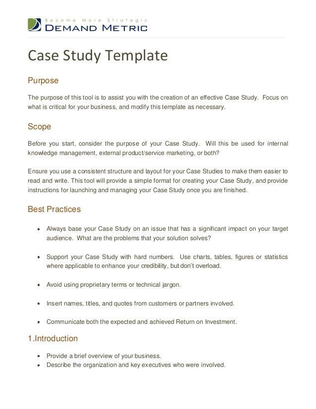 case study template 15855686