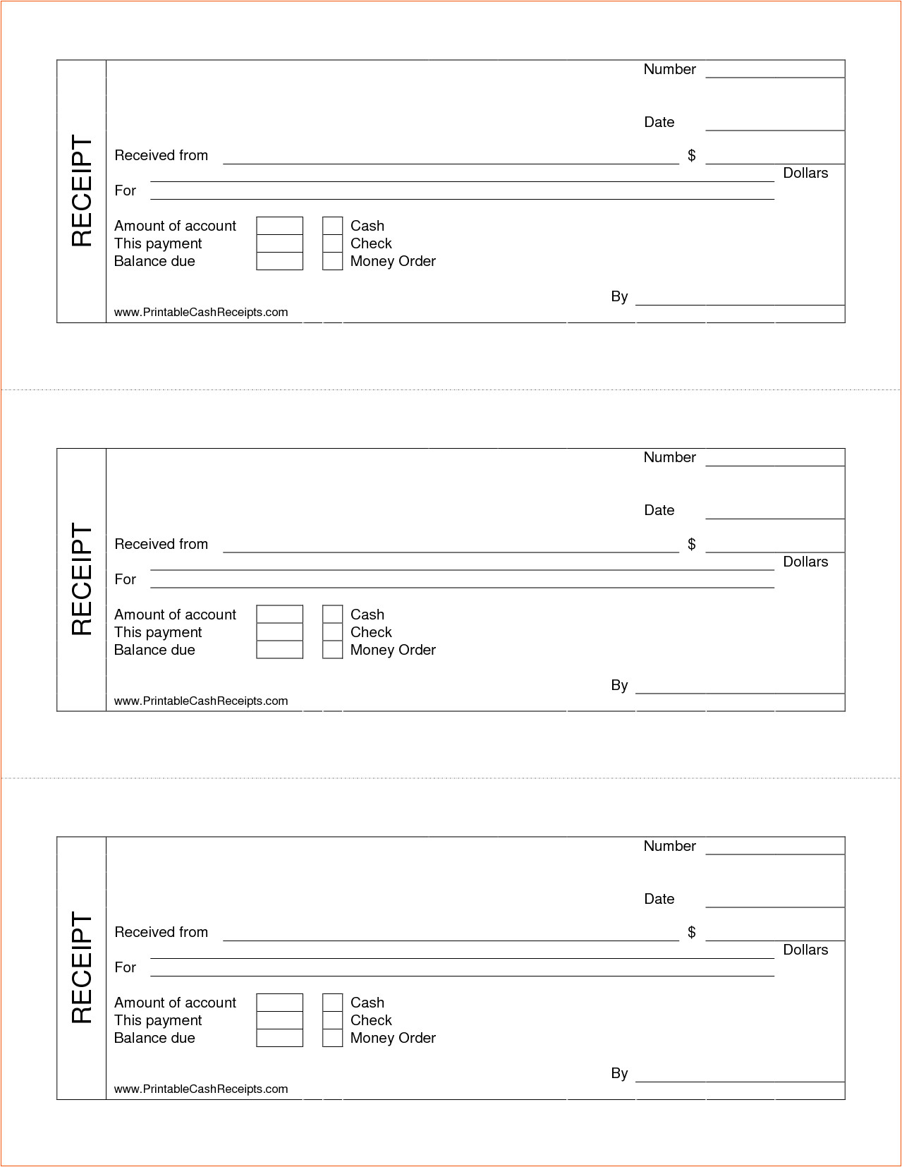 7 printable cash receipt
