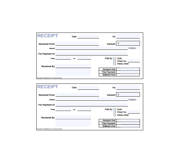 printable cash receipts
