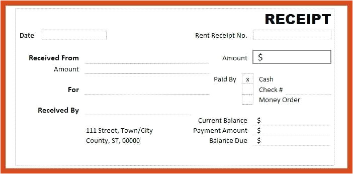 cash receipt template free