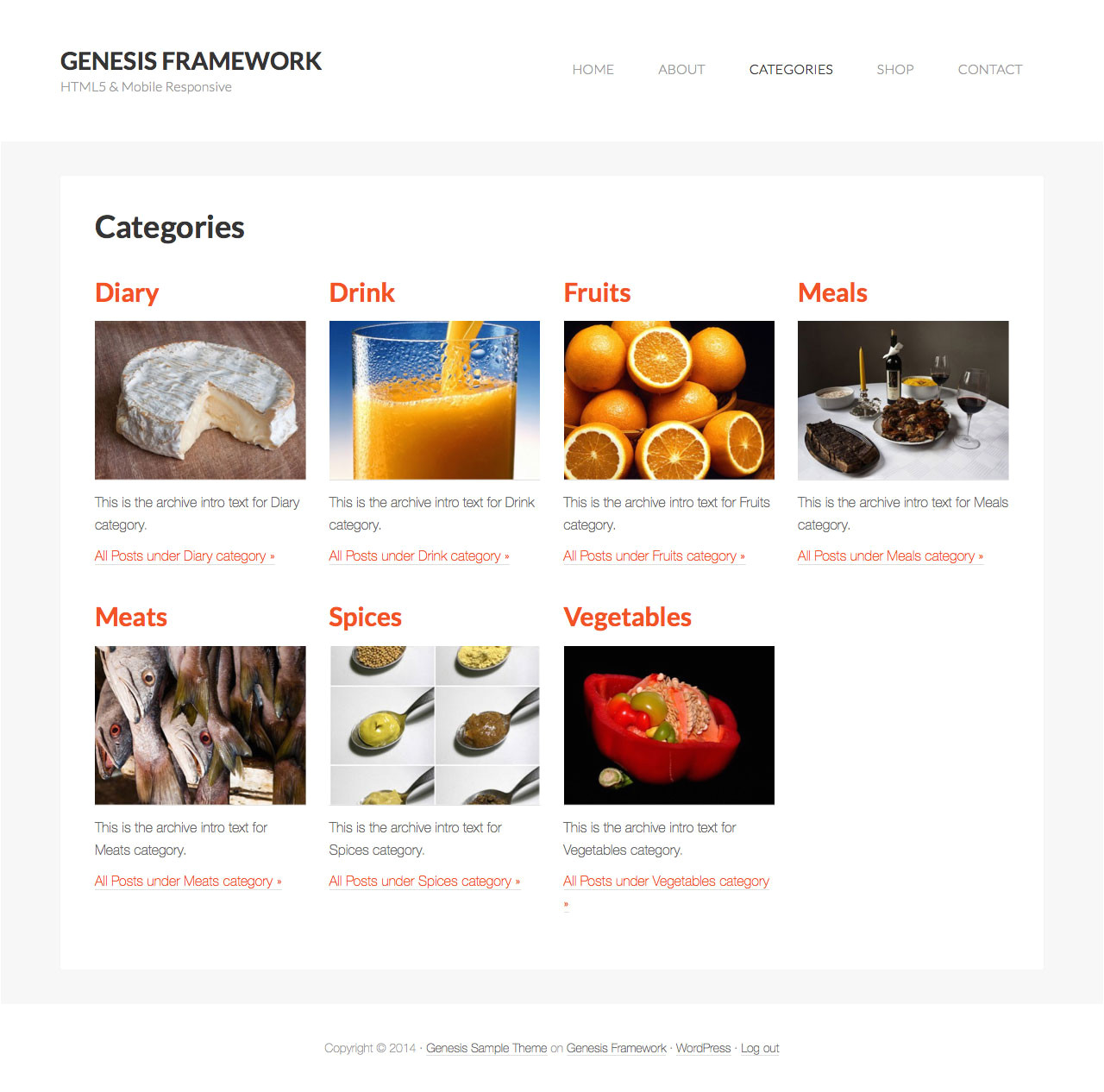 Category Page Template WordPress Category Images Grid Template In Genesis Sridhar Katakam