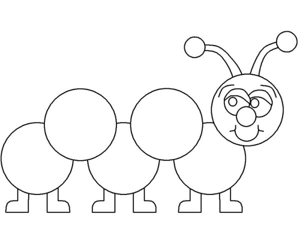 Caterpillar Outline Template Metamorphosis 20 Caterpillar Coloring Pages and Pictures