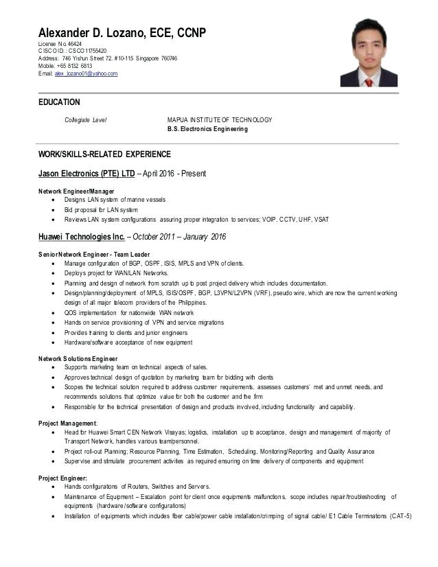 ccnp resume