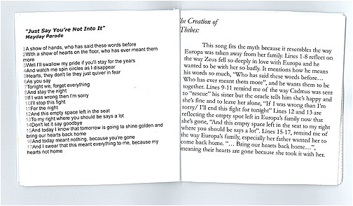 cd liner notes template word