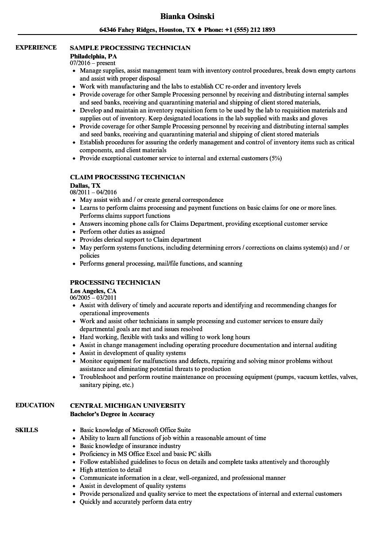 Central Service Technician Resume Sample Great Central Sterile Processing Technician Resume