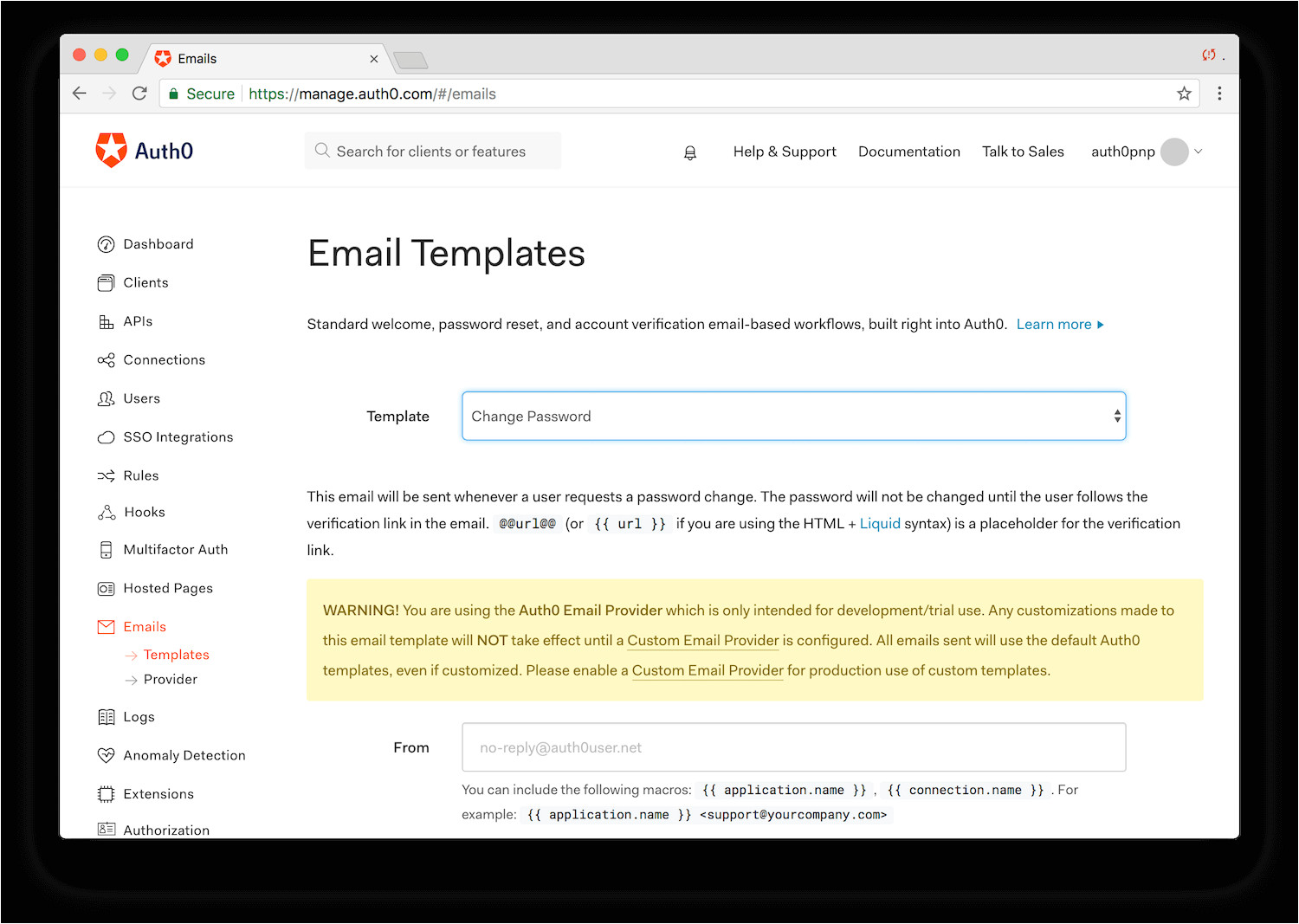 Change Password Email Template Change Users 39 Passwords