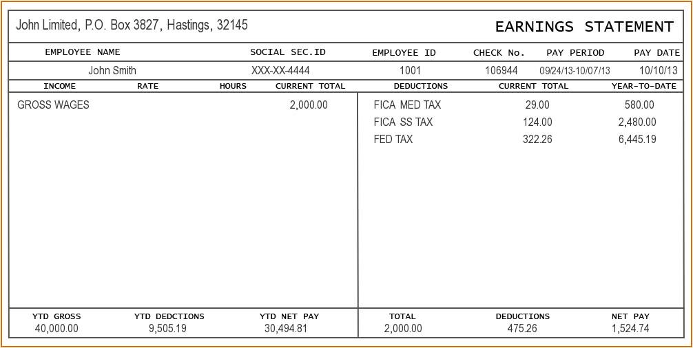 8 check stub template