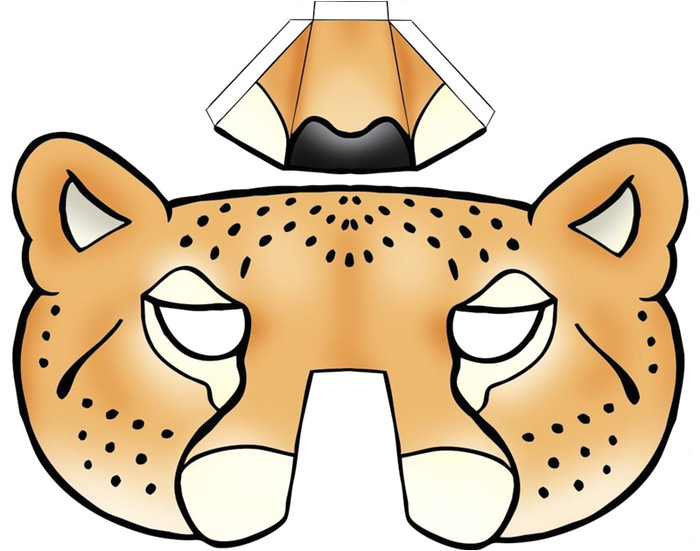 Cheetah Face Mask Template 64 Free Kids Face Masks Templates for Halloween to Print