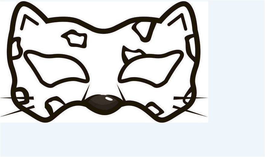 Cheetah Face Mask Template Printable Cheetah Mask