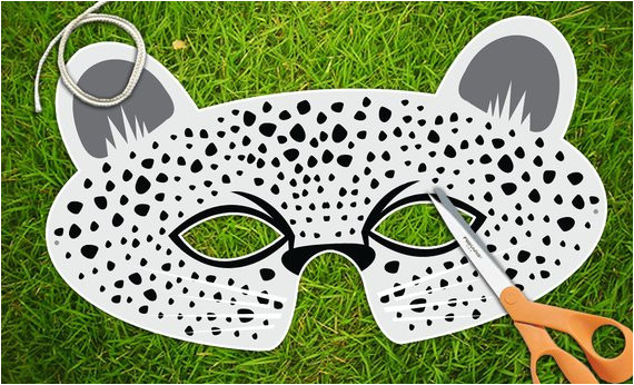 snow leopard mask white leopard animal