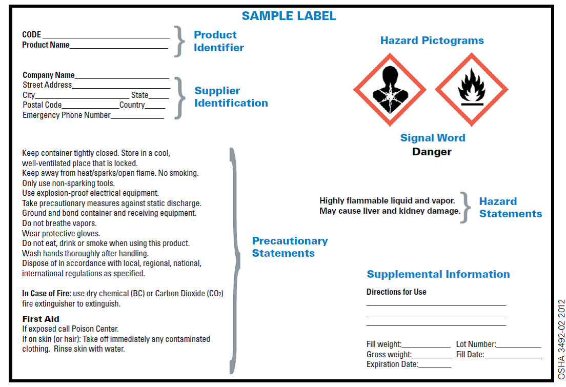 ghs hcs standards changing chemical drum labels
