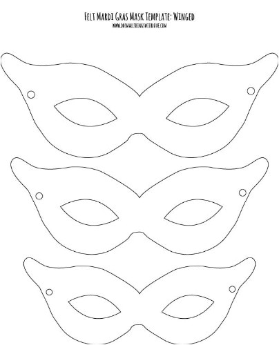 felt mardi gras masks for kids