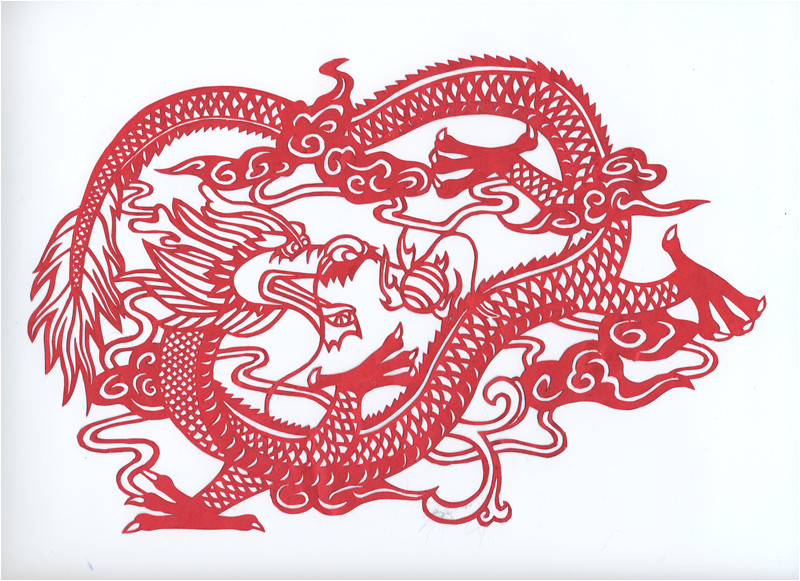 chinese dragon paper cut 38214468