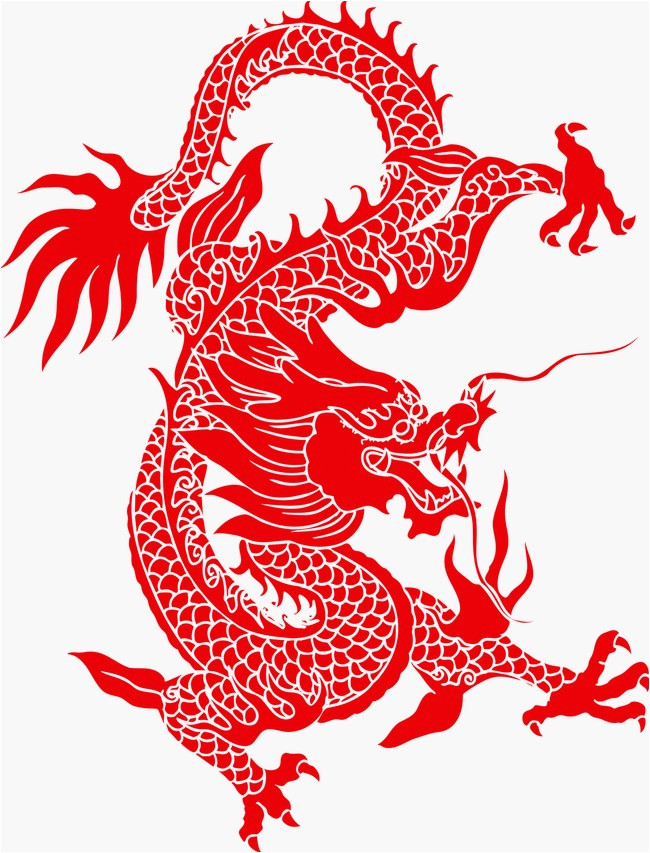 chinese paper cut dragon 717601
