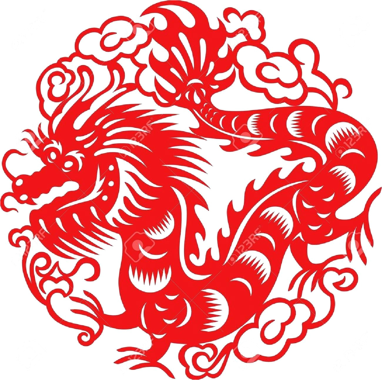 chinese paper cutting templates dragon