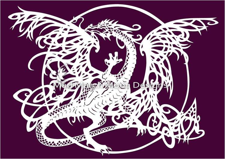 tangle dragon personal use papercut