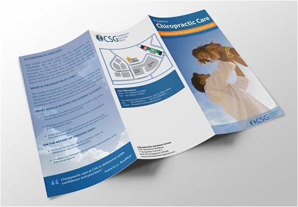 chiropractic brochure template