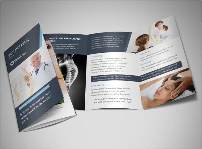 chiropractic brochures template chiropractor massage therapis