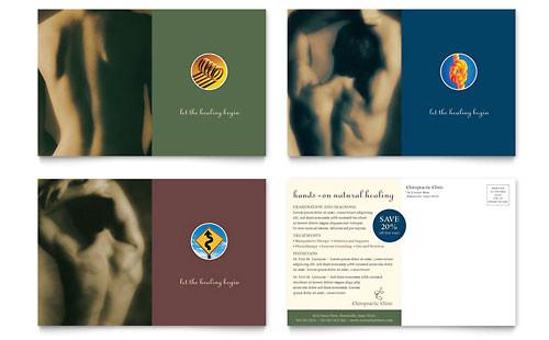 Chiropractic Brochures Template Chiropractor Postcard Template Design