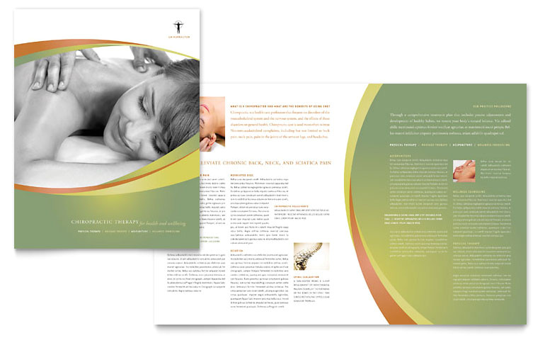 massage chiropractic brochure templates md0190101d