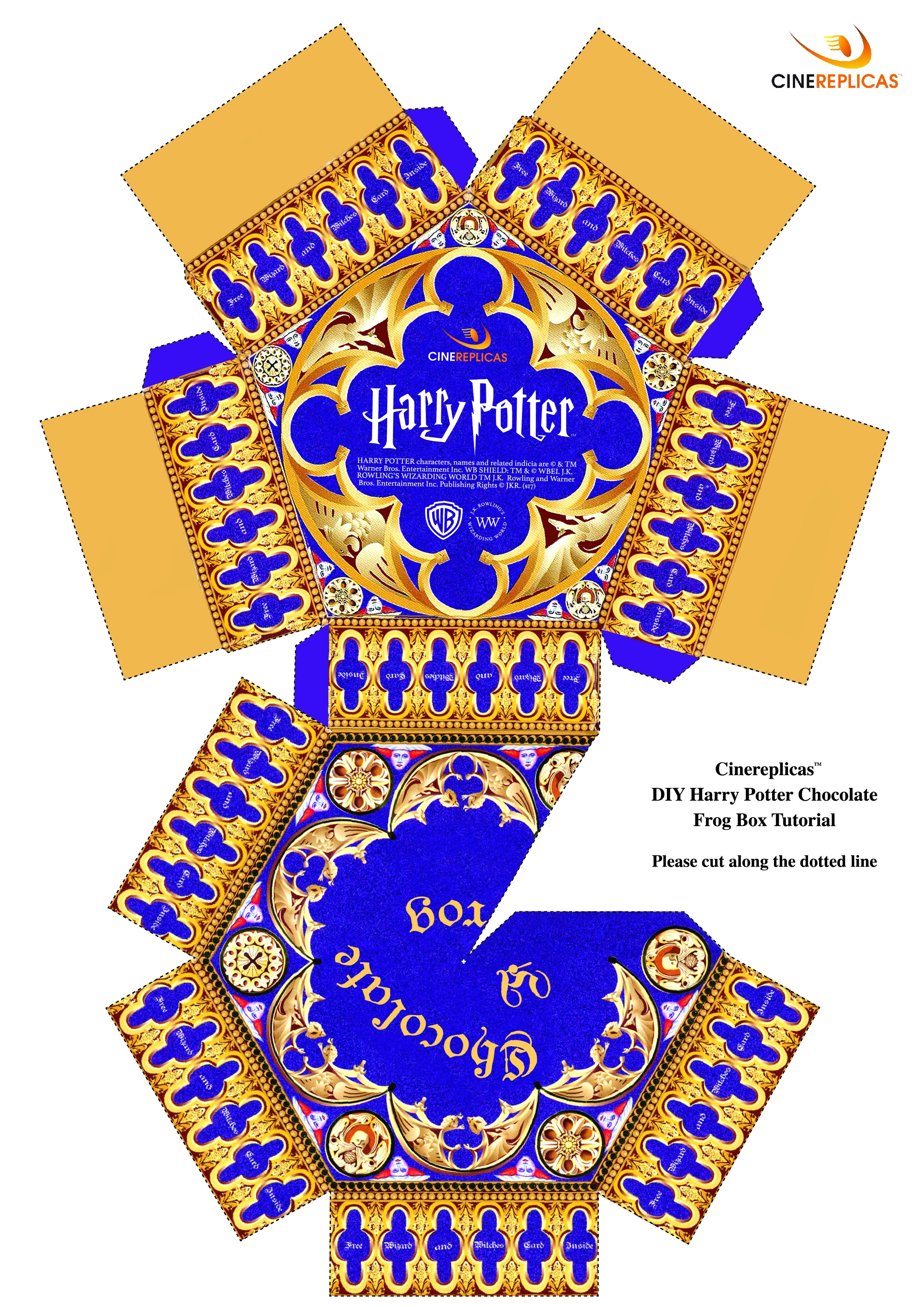 Chocolate Frog Box Template Printable Harry Potter Chocolate Frogs Step by Step Recipe
