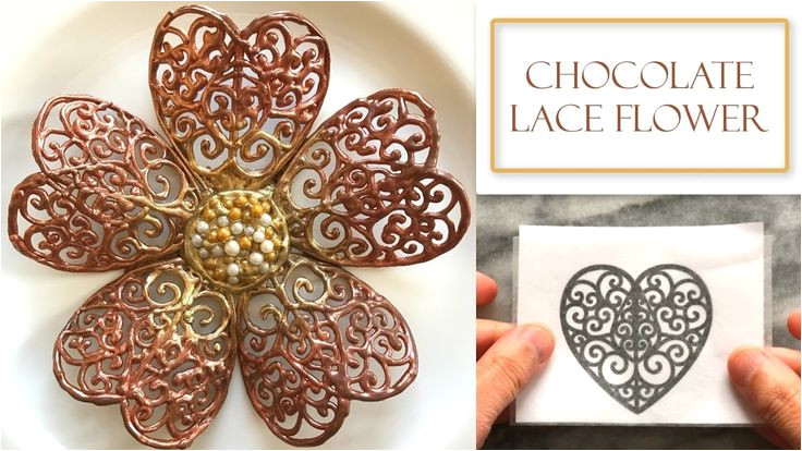 Chocolate Lace Template 3740 Best Flower Food Cake Tutorials Images On Pinterest