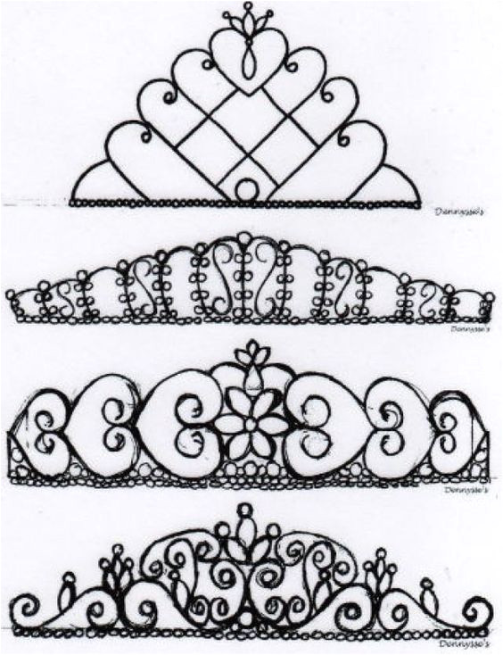 Chocolate Lace Template A Lot Of Different Tiara Designs for Royal Icing Tiaras