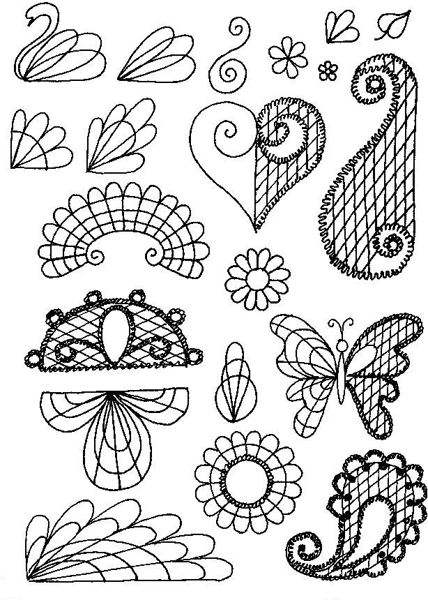royal icing applique patterns