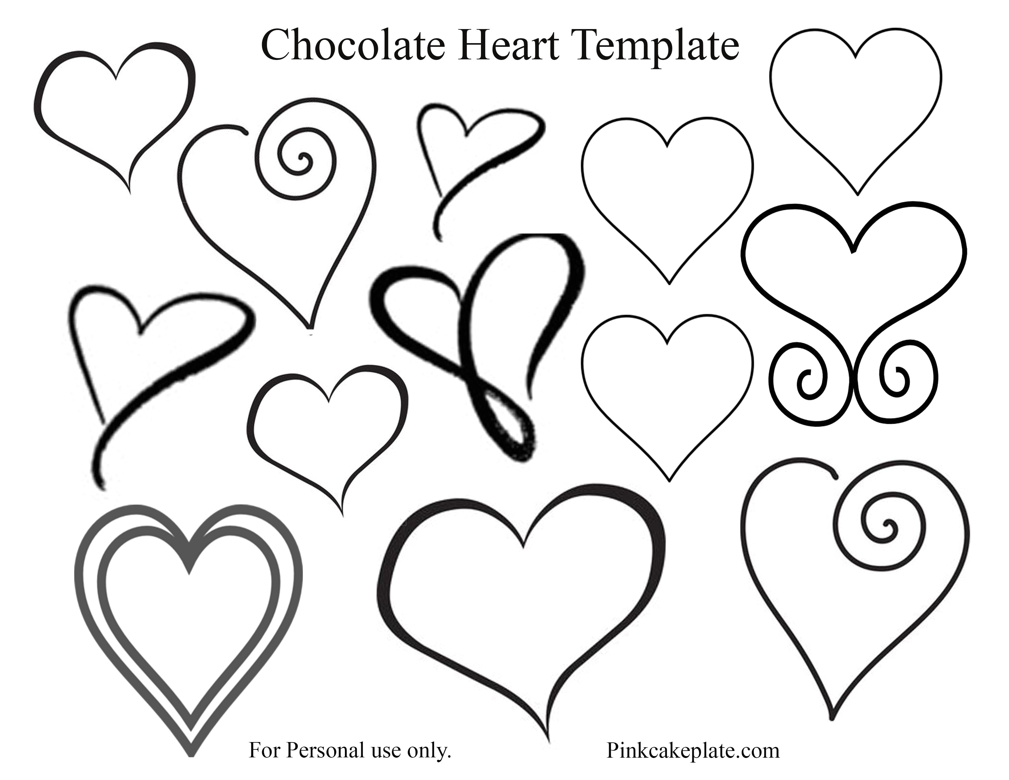 chocolate heart template 2