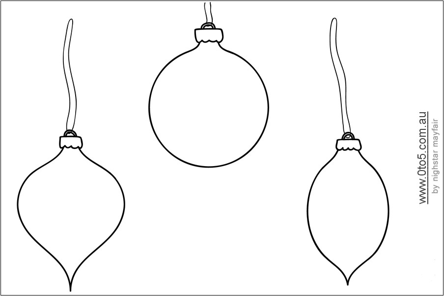 christmas bauble template
