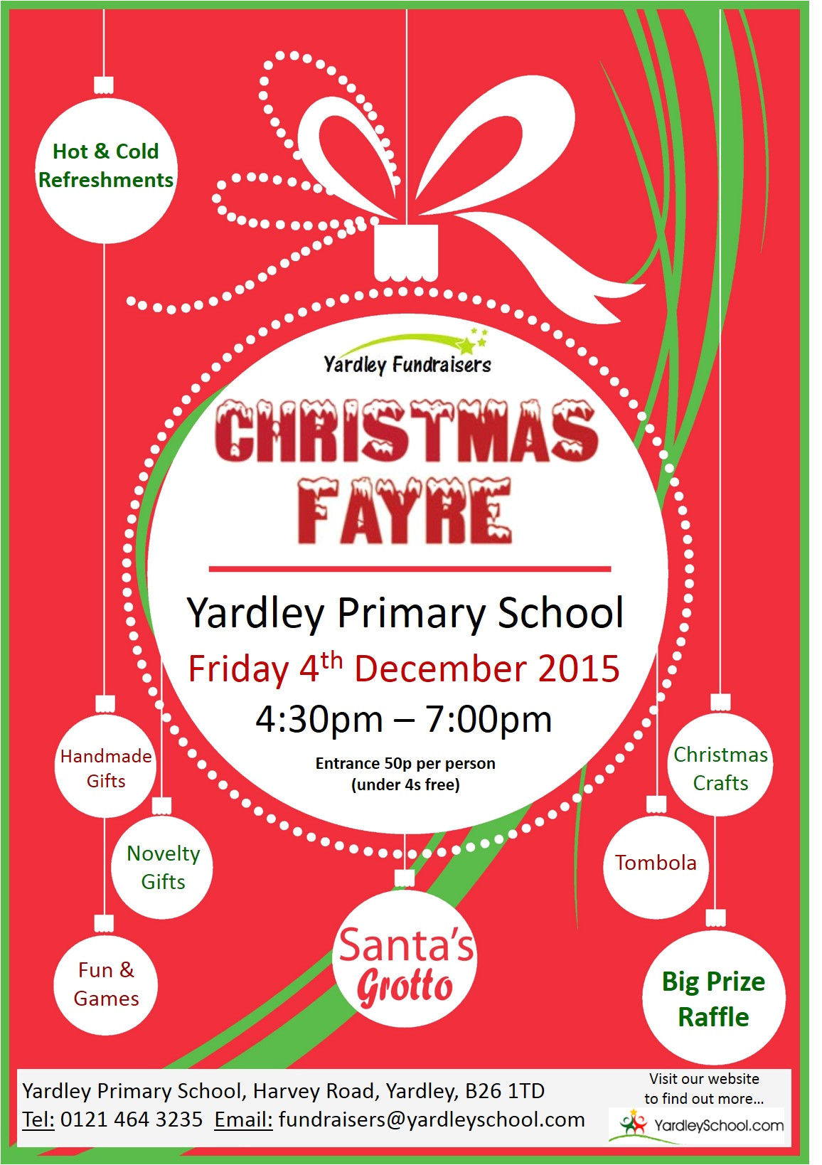 Christmas Raffle Poster Templates Christmas Fayre All Documents