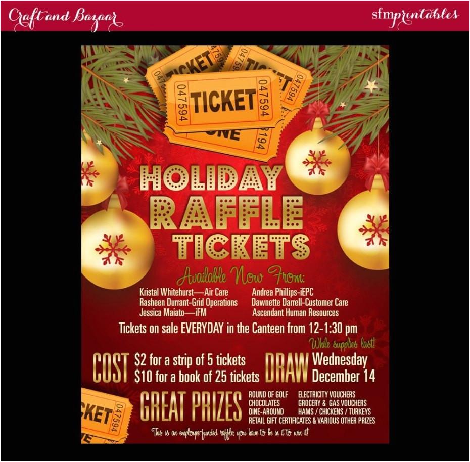 Christmas Raffle Poster Templates Christmas Raffle Flyer Template Penaime Com